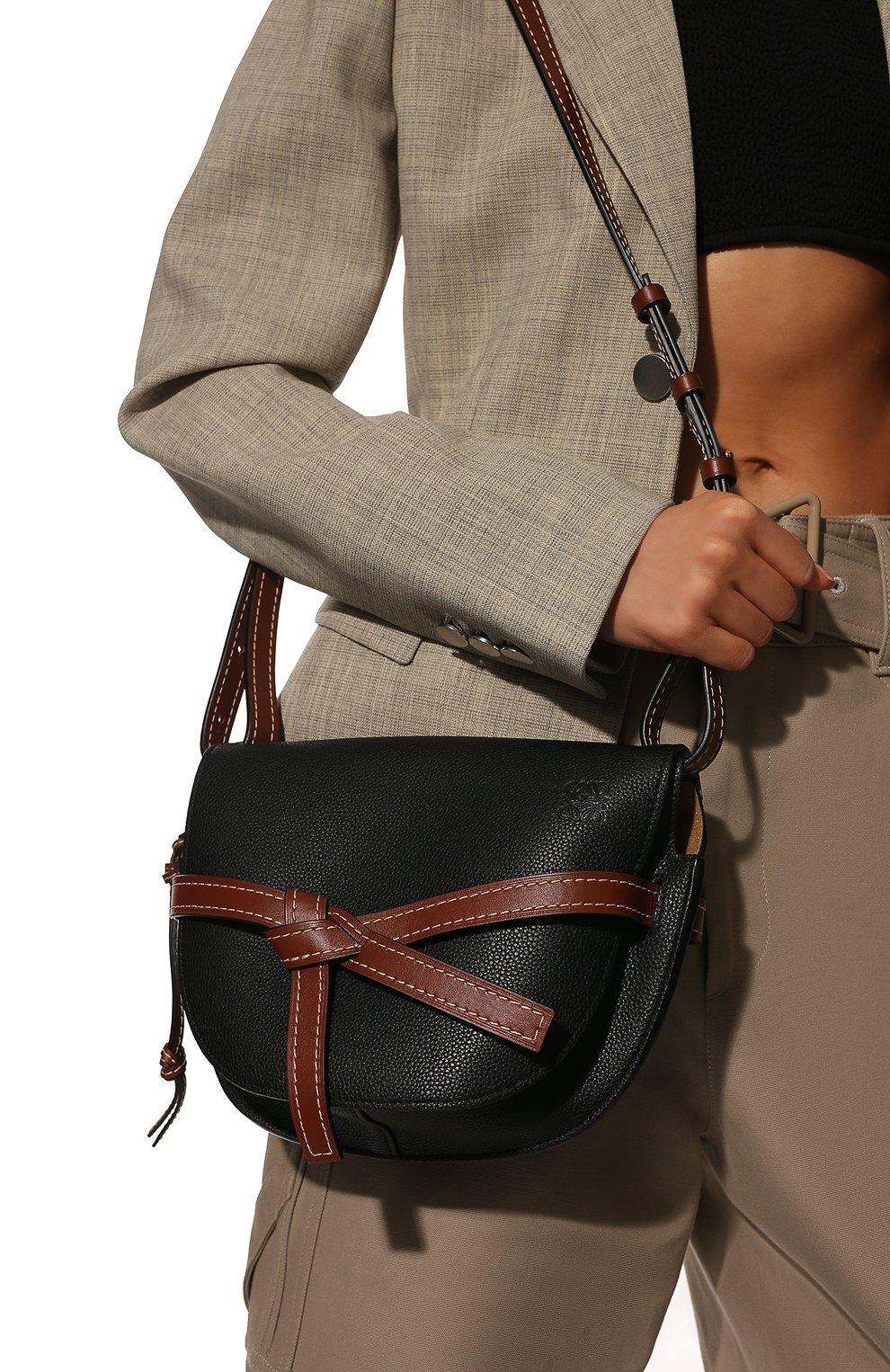 Женская сумка gate small LOEWE черного цвета, арт. 321.12.T20 | Фото 2
