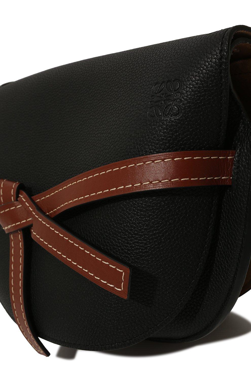 Женская сумка gate small LOEWE черного цвета, арт. 321.12.T20 | Фото 3