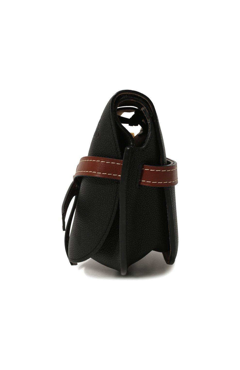 Женская сумка gate small LOEWE черного цвета, арт. 321.12.T20 | Фото 4