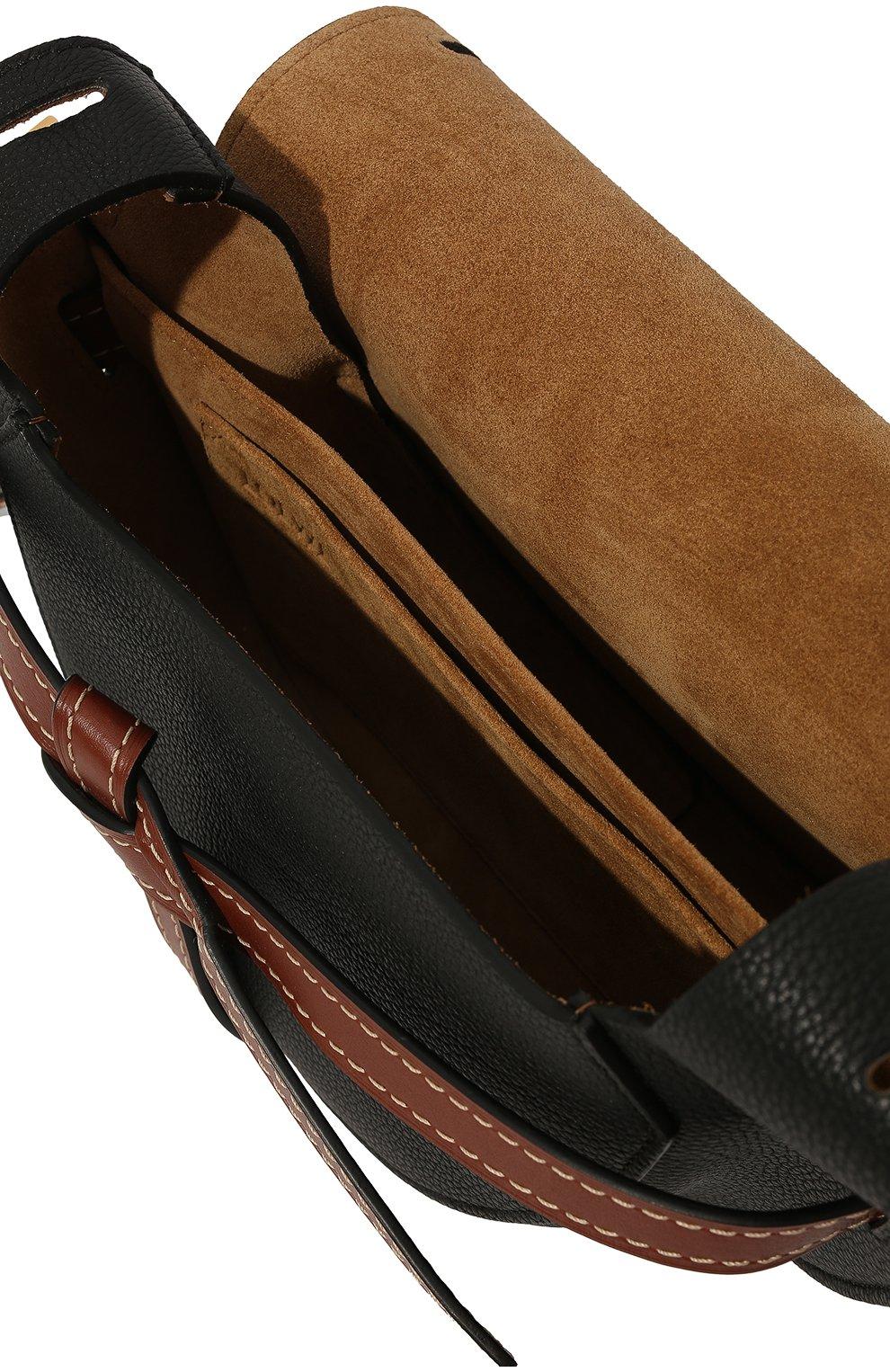 Женская сумка gate small LOEWE черного цвета, арт. 321.12.T20 | Фото 5