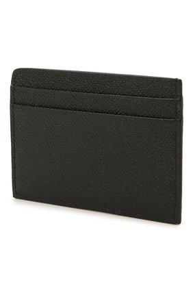 Мужской кожаный футляр для кредитных карт BURBERRY черного цвета, арт. 8033074 | Фото 2