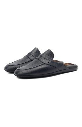 Мужского кожаные домашние туфли ALDO BRUE темно-синего цвета, арт. PCU127K-CM | Фото 1