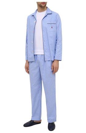 Мужского кожаные домашние туфли ALDO BRUE темно-синего цвета, арт. PCU127K-CM | Фото 2
