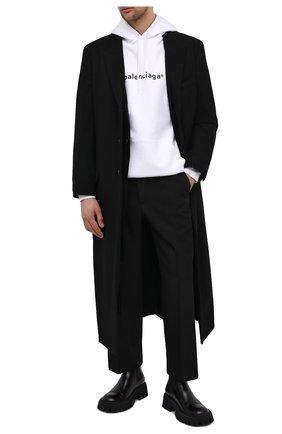 Мужские кожаные челси tractor BALENCIAGA черного цвета, арт. 636599/WA8E9 | Фото 2