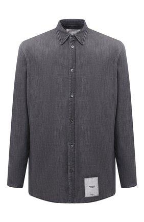 Мужская джинсовая рубашка MAISON MARGIELA серого цвета, арт. S50DL0449/S30697   Фото 1