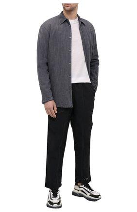 Мужская джинсовая рубашка MAISON MARGIELA серого цвета, арт. S50DL0449/S30697   Фото 2