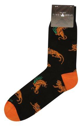 Мужские хлопковые носки STORY LORIS черного цвета, арт. 1063 | Фото 1 (Материал внешний: Хлопок; Кросс-КТ: бельё)