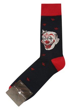 Мужские хлопковые носки STORY LORIS темно-синего цвета, арт. 127 | Фото 1 (Материал внешний: Хлопок; Кросс-КТ: бельё)