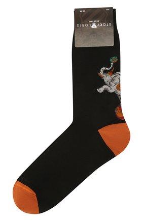 Мужские хлопковые носки STORY LORIS черного цвета, арт. 139 | Фото 1 (Материал внешний: Хлопок; Кросс-КТ: бельё)