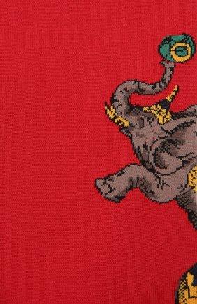 Мужские хлопковые носки STORY LORIS красного цвета, арт. 139 | Фото 2 (Материал внешний: Хлопок; Кросс-КТ: бельё)