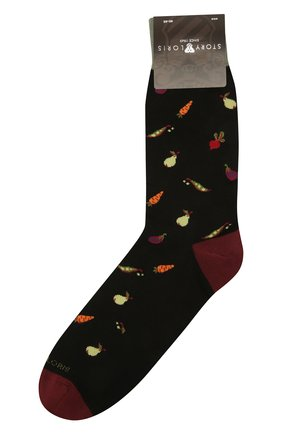 Мужские хлопковые носки STORY LORIS черного цвета, арт. 1449 | Фото 1 (Материал внешний: Хлопок; Кросс-КТ: бельё)