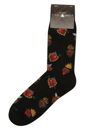Мужские носки STORY LORIS черного цвета, арт. 201 | Фото 1 (Материал внешний: Синтетический материал, Хлопок; Кросс-КТ: бельё)