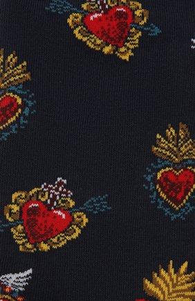 Мужские носки STORY LORIS синего цвета, арт. 201 | Фото 2 (Материал внешний: Синтетический материал, Хлопок; Кросс-КТ: бельё)