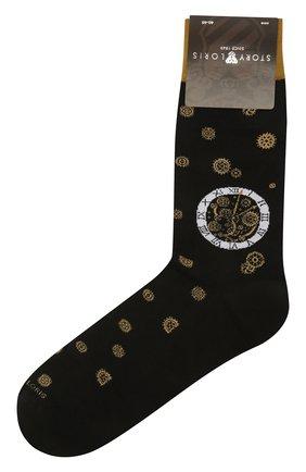 Мужские хлопковые носки STORY LORIS черного цвета, арт. 575 | Фото 1 (Материал внешний: Хлопок; Кросс-КТ: бельё)