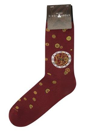 Мужские хлопковые носки STORY LORIS бордового цвета, арт. 575 | Фото 1 (Материал внешний: Хлопок; Кросс-КТ: бельё)