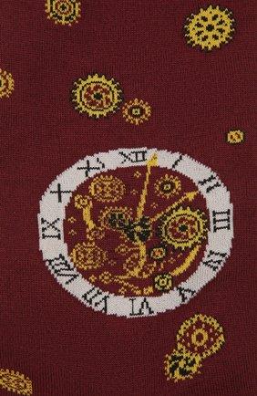 Мужские хлопковые носки STORY LORIS бордового цвета, арт. 575 | Фото 2 (Материал внешний: Хлопок; Кросс-КТ: бельё)