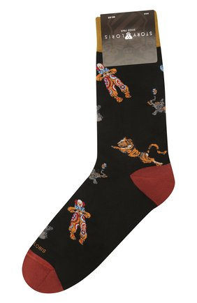 Мужские хлопковые носки STORY LORIS черного цвета, арт. 577 | Фото 1 (Материал внешний: Хлопок; Кросс-КТ: бельё)
