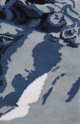 Мужские носки STORY LORIS голубого цвета, арт. 585 | Фото 2 (Материал внешний: Хлопок, Синтетический материал; Кросс-КТ: бельё)