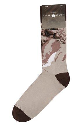 Мужские носки STORY LORIS бежевого цвета, арт. 585 | Фото 1 (Материал внешний: Хлопок, Синтетический материал; Кросс-КТ: бельё)