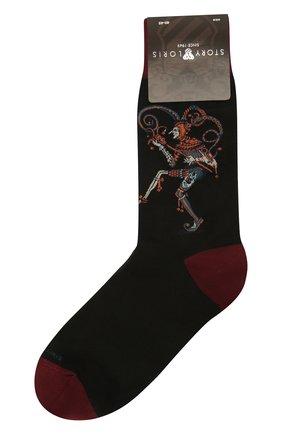 Мужские хлопковые носки STORY LORIS черного цвета, арт. 633 | Фото 1 (Материал внешний: Хлопок; Кросс-КТ: бельё)