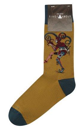Мужские хлопковые носки STORY LORIS коричневого цвета, арт. 633   Фото 1