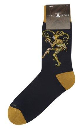 Мужские хлопковые носки STORY LORIS синего цвета, арт. 633 | Фото 1 (Материал внешний: Хлопок; Кросс-КТ: бельё)