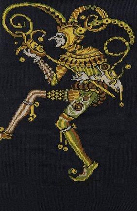 Мужские хлопковые носки STORY LORIS синего цвета, арт. 633 | Фото 2 (Материал внешний: Хлопок; Кросс-КТ: бельё)