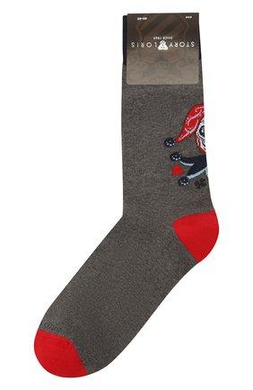 Мужские хлопковые носки STORY LORIS серого цвета, арт. 643   Фото 1