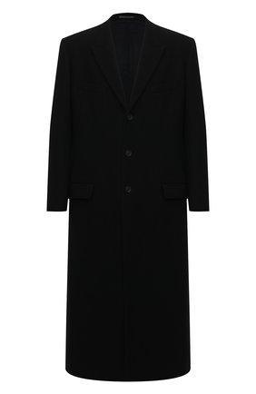 Мужской шерстяное пальто YOHJI YAMAMOTO черного цвета, арт. HR-J48-144 | Фото 1