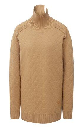 Женский шерстяной свитер BURBERRY бежевого цвета, арт. 8033740   Фото 1