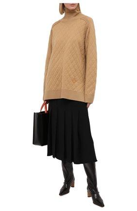 Женский шерстяной свитер BURBERRY бежевого цвета, арт. 8033740   Фото 2