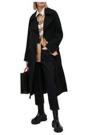Женские джинсы BURBERRY черного цвета, арт. 8033495 | Фото 2