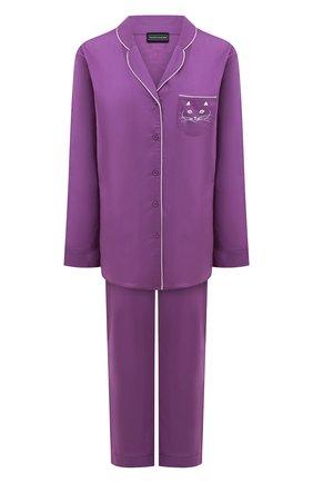 Женская хлопковая пижама NATAYAKIM фиолетового цвета, арт. NY-025BW | Фото 1