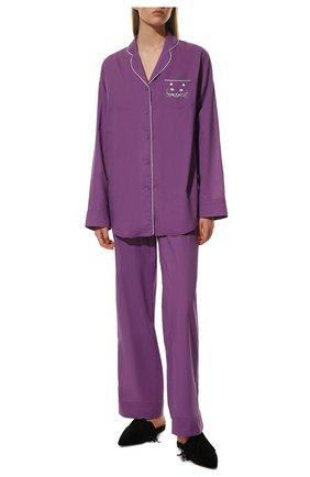 Женская хлопковая пижама NATAYAKIM фиолетового цвета, арт. NY-025BW | Фото 2