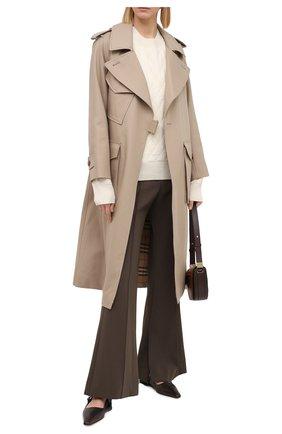 Женский шерстяной свитер BURBERRY белого цвета, арт. 8033699 | Фото 2