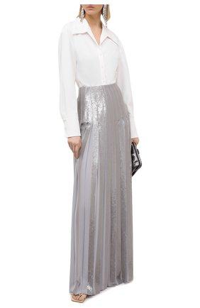 Женская шелковая юбка RALPH LAUREN серого цвета, арт. 290824116 | Фото 2