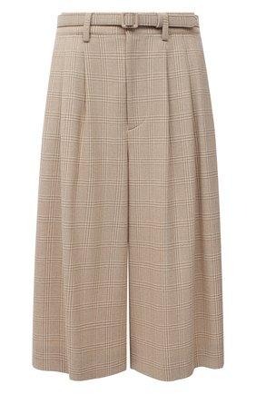 Женские шерстяные шорты RALPH LAUREN бежевого цвета, арт. 290823701 | Фото 1