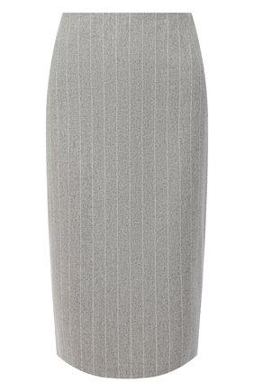 Женская шерстяная юбка RALPH LAUREN серого цвета, арт. 290821345 | Фото 1