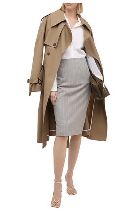 Женская шерстяная юбка RALPH LAUREN серого цвета, арт. 290821345 | Фото 2