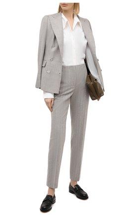 Женские шерстяные брюки RALPH LAUREN серого цвета, арт. 290821334 | Фото 2