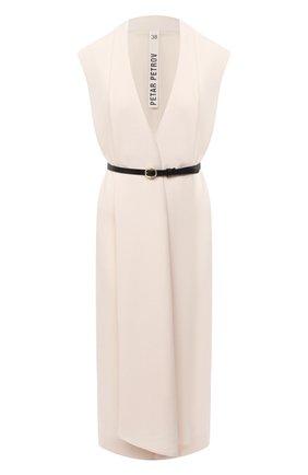 Женское шерстяное платье PETAR PETROV кремвого цвета, арт. ALEN F20D91 | Фото 1