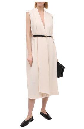 Женское шерстяное платье PETAR PETROV кремвого цвета, арт. ALEN F20D91 | Фото 2