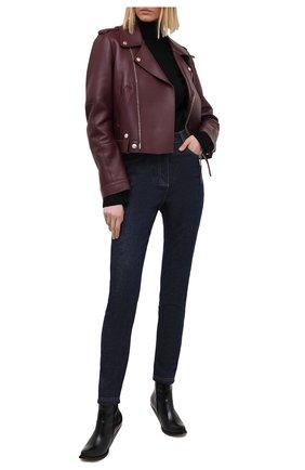 Женские джинсы FENDI синего цвета, арт. FLP673 AD9C | Фото 2