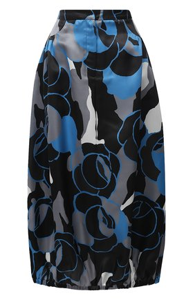 Женская шелковая юбка GIORGIO ARMANI голубого цвета, арт. 0WHNN04D/T0272 | Фото 1