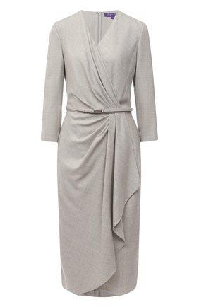 Женское шерстяное платье RALPH LAUREN серого цвета, арт. 290823703 | Фото 1