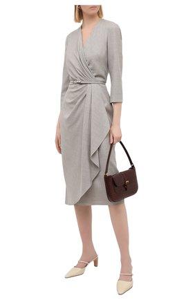 Женское шерстяное платье RALPH LAUREN серого цвета, арт. 290823703 | Фото 2