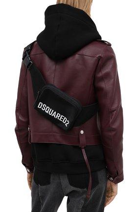 Женская поясная сумка DSQUARED2 черного цвета, арт. BBW0026 11702365 | Фото 2