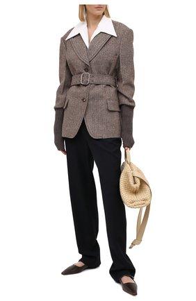 Женский шерстяной жакет CHLOÉ коричневого цвета, арт. CHC20WVE23078 | Фото 2