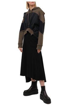 Женская худи N21 хаки цвета, арт. 20I N2M0/E081/4011 | Фото 2