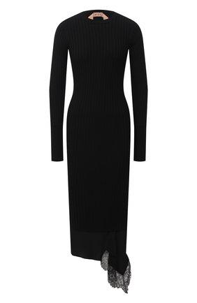 Женское шерстяное платье N21 черного цвета, арт. 20I N2M0/AH01/7030 | Фото 1
